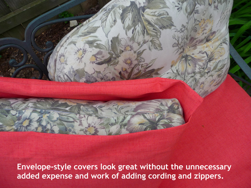 envelope style cushion cover