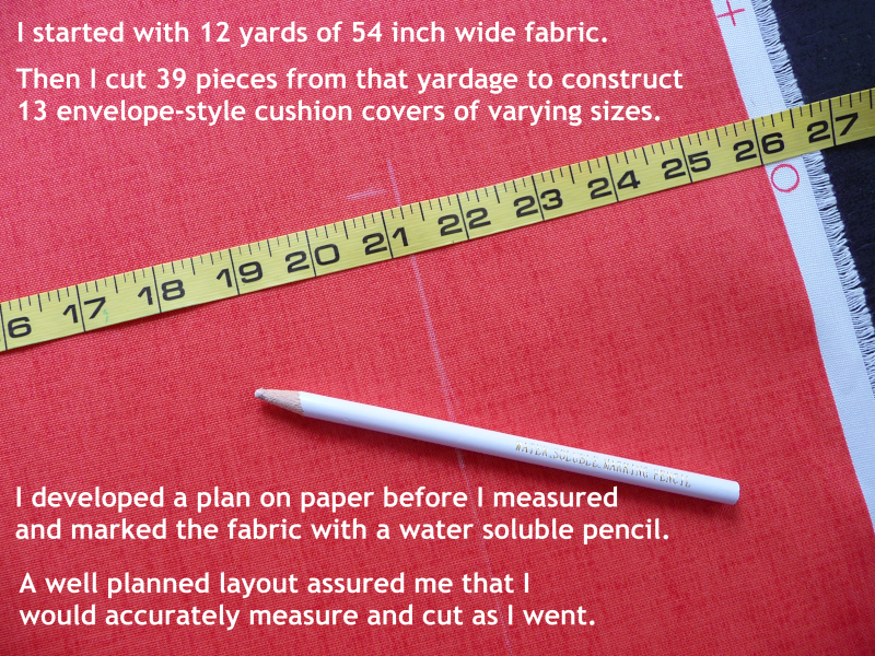 instructions for envelope pillows