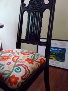remade dining chair cushion