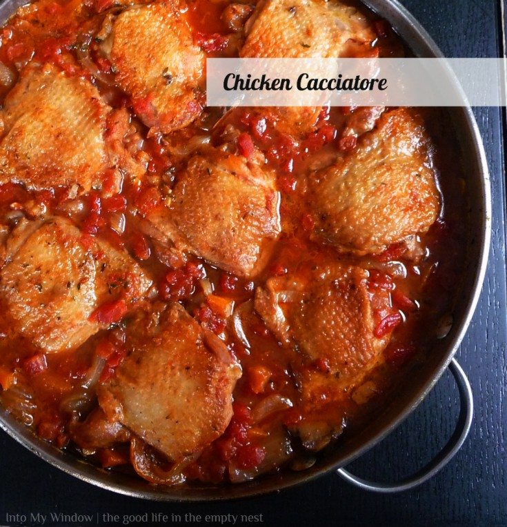 Easy One Pan Chicken Cacciatore