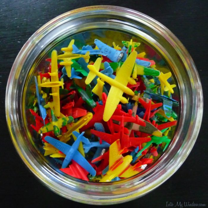 bold bright colors toy airplanes